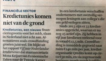 Kredietunies komen niet van hun geld af…